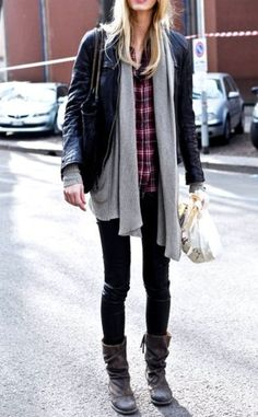 I like the layering of this. Another great outfit.