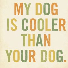 Unless your dog is a Lab; then it's probably pretty cool too.....