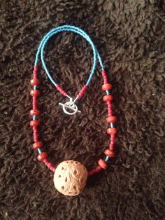Ceramic bead and glass beads
