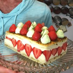 Fraisier. Strawberry, Pistachio, Lemon Beebrush and Vanilla.