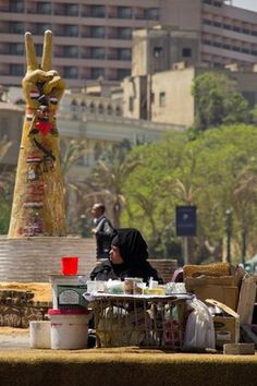 Daily Life During the Arab Spring - Cairo, Egypt - stock photo