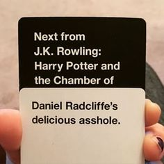 "25 Times ""Cards Against Humanity"" Rendered You Speechless Cards Vs Humanity, Funniest Cards Against Humanity, Funny Jokes, Hilarious, Great Jokes, Fun Card Games, All The Things Meme, Harry Potter Universal, Cute Gay"