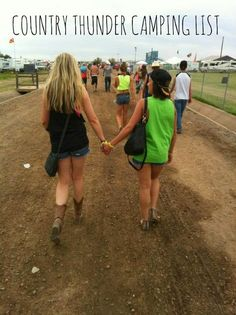country thunder, camping list, camping, music festival, summer time