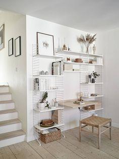 Low Budget Home Decoration Ideas Interior Trim, Interior And Exterior, Home Wall Colour, Wall Colors, Home Office, String Shelf, Interior Design Website, Decorating On A Budget, Interior Architecture
