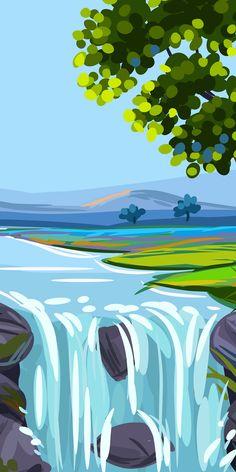 Landscape Wallpaper, Scenery Wallpaper, Wallpaper Backgrounds, Landscape Paintings, 3840x2160 Wallpaper, Landscape Illustration, Illustration Art, Iphone Wallpaper Travel, Beautiful Nature Scenes