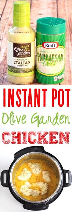 Olive Garden Recipes! This instant pot chicken parmesan recipe is such an easy Italian dinner!