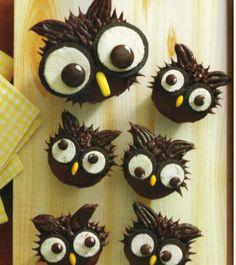 owl diy cupcakes