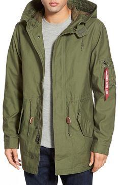 086225b6091 Main Image - Alpha Industries  M-59  Hooded Fishtail Parka Hoodie Jacket