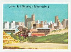 JOHANNESBURG-OR-GOLD-SUD-SOUTH-AFRIQUE-AFRICA-IMAGE-1969 Vintage Posters, South Africa, Gold, Painting, Image, Africa, Painting Art, Paint, Painting Illustrations