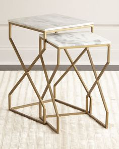 Shop Reagan Nesting End Tables at Horchow, where you'll find new lower shipping on hundreds of home furnishings and gifts. Steel Furniture, Furniture Decor, Furniture Design, Fine Furniture, Furniture Movers, Handmade Furniture, Marble Furniture, Glass Furniture, Furniture Websites