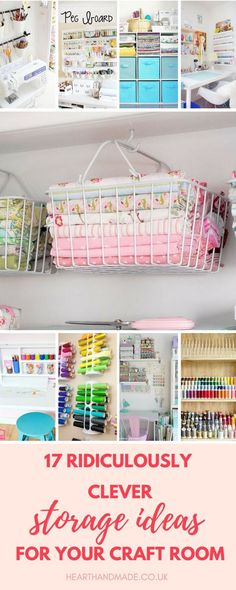 Don't let your studio get messy - think outside the box and get inspired by these fabulous creative storage solutions! Click through to discover these amazing organization ideas! via @hearthandmade