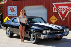 """The very popular Camrao A favorite for car collectors. The Muscle Car History Back in the and the American car manufacturers diversified their automobile lines with high performance vehicles which came to be known as """"Muscle Cars. Chevy Chevelle Ss, Chevy Classic, Classic Cars, Classic Auto, Chevy Muscle Cars, Hot Rides, Us Cars, American Muscle Cars, Car Girls"""