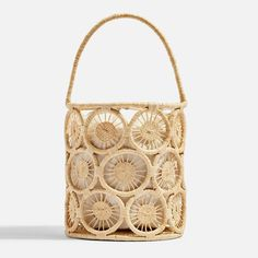 I Just Found the Best 48 Buys in Time for Payday : Topshop Sail Handmade Straw Bucket Bag Tote Handbags, Purses And Handbags, Cheap Handbags, Bucket Bag, Latest Bags, Straw Tote, Cute Purses, Branded Bags, Sisal