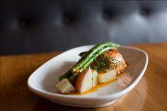 Seared Salmon with Asparagus, New Potatoes and a Warm Tomato Vinaigrette   Nourish MagazineNourish Magazine