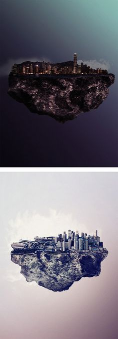 Islands: Floating Cities by Reinhard Krug | Inspiration Grid | Design Inspiration