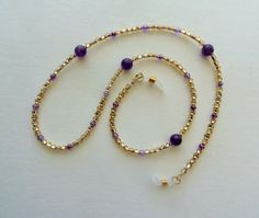 Keep your glasses handy with this amethyst eyeglass holder #handmade #etsy
