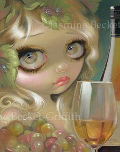 Jasmine Becket Griffith Art Print Signed Wine Spirits of The Vine Chardonnay   eBay