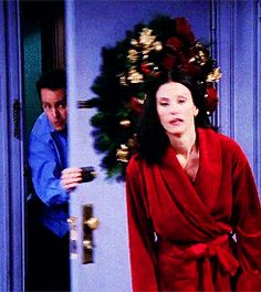 """When Chandler stole a quick kiss. 