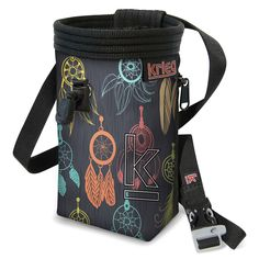 """Dream Catchers Chalk Bag. Classic Handmade bag with Water-Resistant Rip-Stop, plated with a Unique Eco-Canvas Print, Reinforced with heavy nylon webbing. Polartek Fleece Lining with an adjustable Snag-Free Draw Cord, and 2"""" elastic grip to keep your chalk clean and where it needs to be. Zippered Pocket which fits the average-sized phone, so take a photo from the top or stash a snack. Adjustable Waist Band with a featured whistle buckle. Life-time Warranty. We love to see our bags used…"""