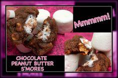 Hugs & CookiesXOXO: CHOCOLATE PEANUT BUTTER S'MORE COOKIES