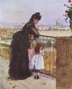 Berthe_Morisot_Femme-et-enfant-sur-un-balcon-