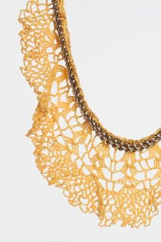 crochet collar necklace Inspiration check out chain attachment
