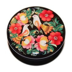 omg adorbs. too bad they're acrylic :( Vintage Flowers & Lovebirds Screw-Fit Acrylic Plug