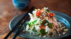 Chicken salad with cabbage and Vietnamese mint (goi ga)