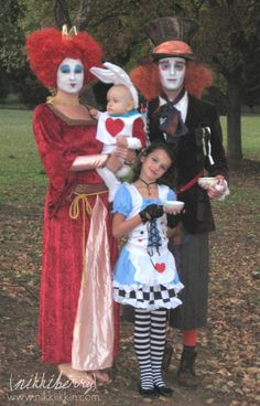 alice in wonderland family costume....cute. I wouldn't do the Tim Burton version of the characters.... because I cant stand him...but the idea is cute.