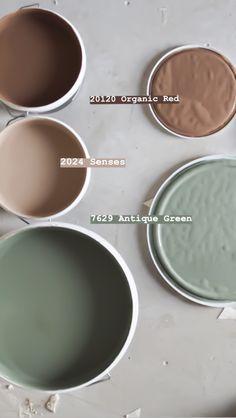 Fargepalett til nytt hus med Jotun Lady 2019 – Studio Lindhjem Paint Color Combos, Dark Paint Colors, Bedroom Paint Colors, Wall Colors, Green Colour Palette, Green Colors, Colours, Home Design, Jotun Paint