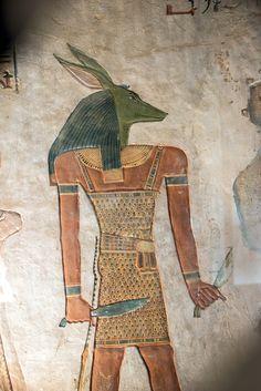 Egyptian Anubis, Egyptian Pharaohs, Egyptian Symbols, Ancient Symbols, Egyptian Art, Ancient Artifacts, Egyptian Mythology, Ancient Egyptian Paintings, Ancient Egypt Art