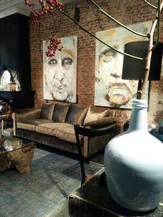 Canape van Latorre Acenscion! Heel mooi meubelmerk. Gestoffeerd met stof van Lizzo.