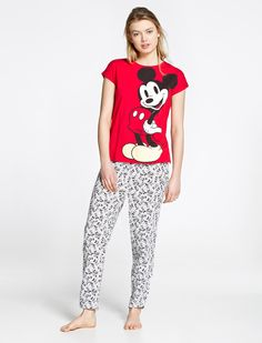 women'secret | Products | Mickey and Minnie long pyjama