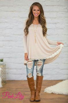 Are you in search of the best fashion haven? Shop The Pink Lily Online Boutique today to stock your wardrobe with this season's cutest fashion finds. Cute Fashion, Look Fashion, Winter Fashion, Fashion Outfits, Womens Fashion, Spring Fashion, Cute Winter Outfits, Stylish Outfits, Spring Outfits