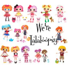 We're Lalaloopsy by cullen4life2010 on Polyvore featuring art