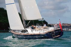 Oyster Yachts 46 with a blue hull.