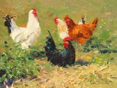 images paintings of hens - Google Search