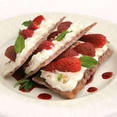 Strawberries  Cheese Mille-feuille