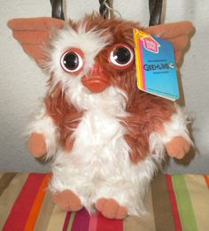"1984 Gizmo doll from the move Gremlins by Steven Spielberg.  10"" tall and he squeaks when you shake him! from Hasbro Softies"