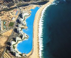 The Crystal Lagoon at San Alfonso del Mar resort, Chile, is the world biggest pool.
