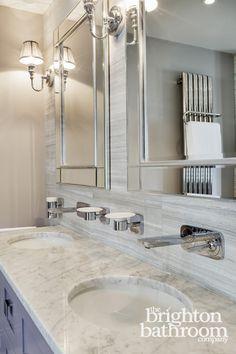 Bathroom Showrooms East Sussex hexagonal black tiled, slate bathroom —hove | the brighton