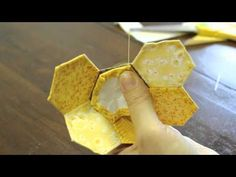▶ How to do English Paper Piecing by Kimberbell Designs - YouTube