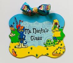 Custom Hand Painted Sign Classroom Signs, Classroom Themes, Painting Teacher, Teacher Photo, World Teachers, Teacher Signs, Cat Signs, Letter Set, New Students