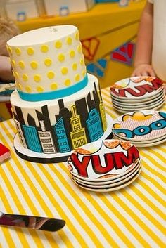 """Photo 1 of 25: Super Heroes / Birthday """"VIntage Super Hero Party""""   Catch My Party"""