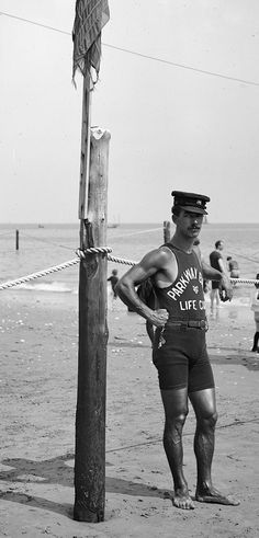 <> Lifeguard on the coast, 1920′s