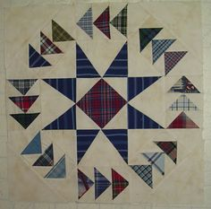 Cheaper Than Therapy Quilting:  Dizzy Geese block.