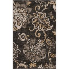 Bliss Rugs Tallie Transitional Area Rug, Available in Various Sizes and Colors, Black