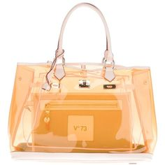 V73 Clear Bag (€230) ❤ liked on Polyvore featuring bags, handbags, purses, beige purse, handbags purses, man pouch bag, purse pouch and beige handbags