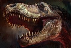 color drafit of T-rex head by ~cheungchungtat on deviantART