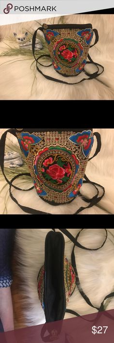 Embroidered Butterfly Crossbody Embroidered Small Butterfly Crossbody Bag Bags Crossbody Bags
